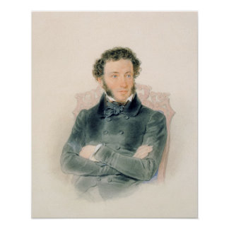 Portrait of Alexander Pushkin  1836 Poster