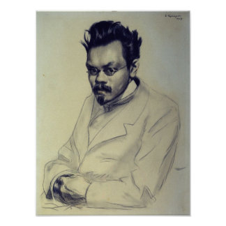 Portrait of Alexei M. Remizov, 1907 Poster