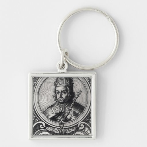 Portrait of Alfonso X  'the Wise' Key Chain