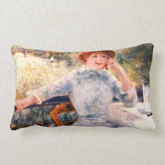 Portrait of Alphonsine Fournaise by Pierre Renoir Lumbar Pillow