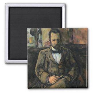 Portrait of Ambroise Vollard, 1899 Square Magnet