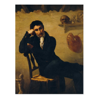 Portrait of an Artist in his Studio Postcard