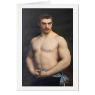Portrait of an Athlete, 1907 Card