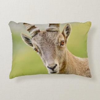 Portrait of an ibex decorative cushion