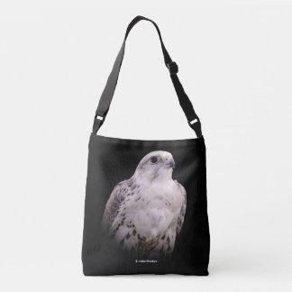 Portrait of an Inquisitive Saker Falcon Crossbody Bag