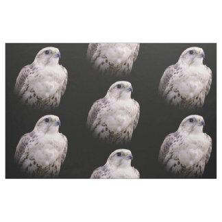 Portrait of an Inquisitive Saker Falcon Fabric