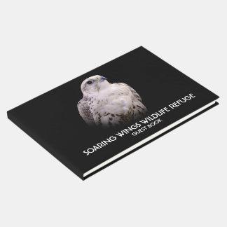 Portrait of an Inquisitive Saker Falcon Guest Book