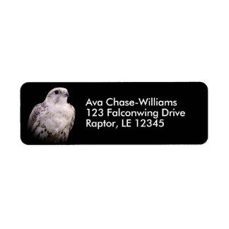 Portrait of an Inquisitive Saker Falcon Return Address Label