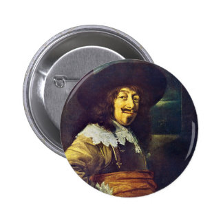 Portrait of an Officer by Frans Hals 6 Cm Round Badge