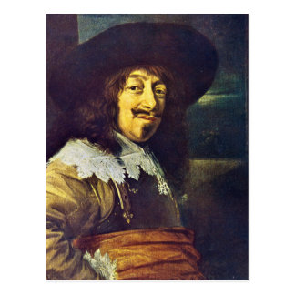 Portrait of an Officer by Frans Hals Postcard