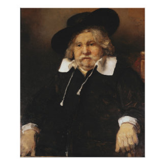 Portrait of an old man, 1667 poster