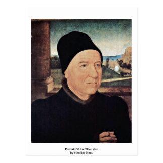 Portrait Of An Older Man By Memling Hans Postcard