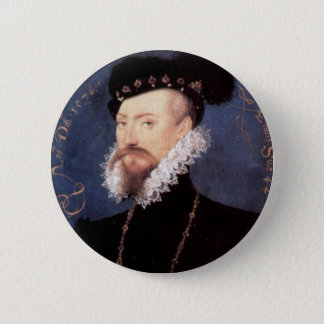Portrait of an Unknown Gentleman, 1576 6 Cm Round Badge