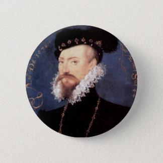 Portrait of an Unknown Gentleman, 1576 6 Cm Round Badge