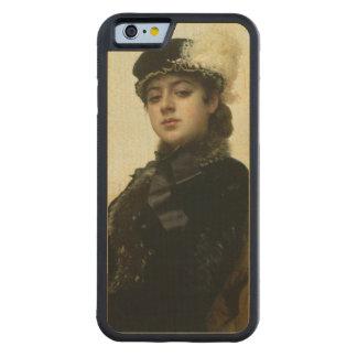 Portrait of an Unknown Woman, 1883 Maple iPhone 6 Bumper Case