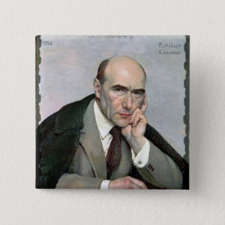 Portrait of Andre Gide  1924 15 Cm Square Badge