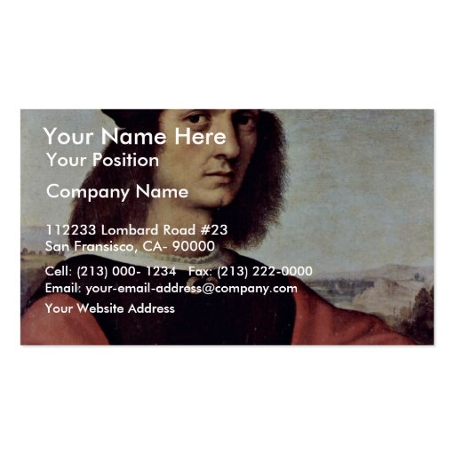 Portrait Of Angelo Doni By Raphael (Best Quality) Business Cards