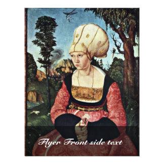 Portrait Of Anna Cuspinian By Cranach D. Ä. Lucas 21.5 Cm X 28 Cm Flyer