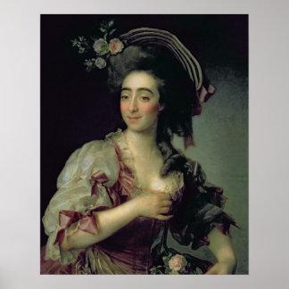 Portrait of Anna Davia-Bernucci, 1782 Print