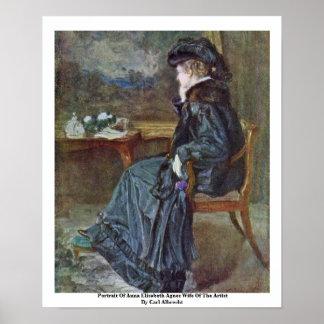 Portrait Of Anna Elisabeth Agnes Poster