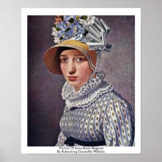 Portrait Of Anna Maria Magnani Print