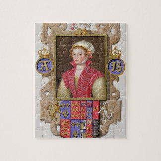 Portrait of Anne Boleyn (1507-36) 2nd Queen of Hen Jigsaw Puzzle