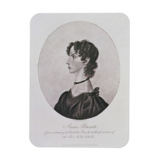 Portrait of Anne Bronte (1820-49) from a drawing i Rectangular Photo Magnet