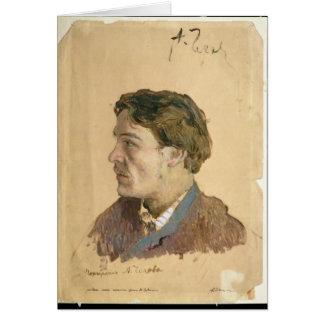 Portrait of Anton Chekhov Greeting Cards