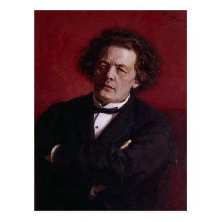 Portrait of Anton Grigoryevich Rubinstein, 1881 Postcard