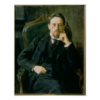 Portrait of Anton Pavlovich Chekhov, 1898 Poster