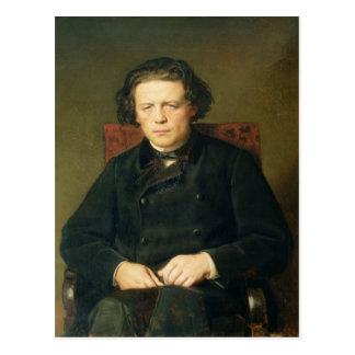 Portrait of Anton Rubinstein  1870 Postcard
