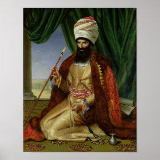 Portrait of Asker-Khan, Ambassador of Persia Poster