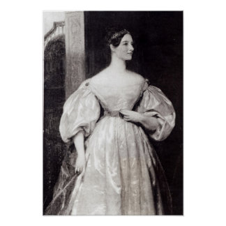 Portrait of Augusta Ada Byron Poster