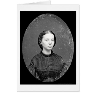 Portrait of Augusta Field Daguerreotype 1862 Card