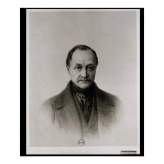 Portrait of Auguste Comte , French philosopher Poster