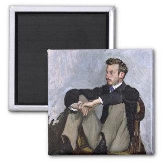 Portrait of Auguste Renoir , 1867 Magnet