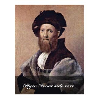 Portrait Of Baldassare Castiglione By Raffael Flyer