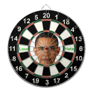 Portrait of Barack Obama Dartboard