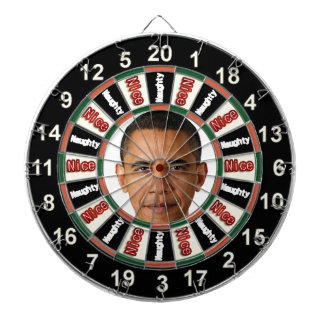 Portrait of Barack Obama political dart board