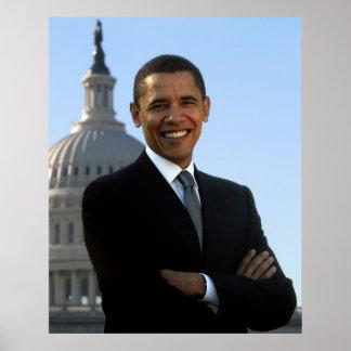 Portrait of Barack Obama Poster