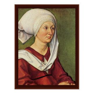 Portrait Of Barbara Durer Born Holper Postcard