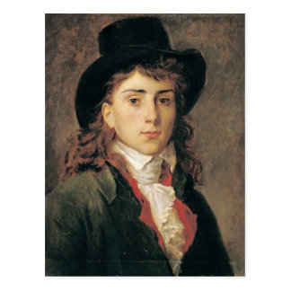 Portrait of Baron Antoine Jean Gros  Aged 20 Postcard
