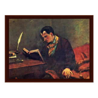 Portrait Of Baudelaire By Courbet Gustave Postcard