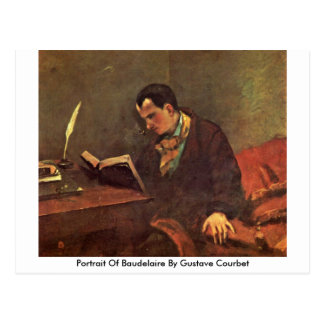 Portrait Of Baudelaire By Gustave Courbet Postcard