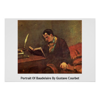 Portrait Of Baudelaire By Gustave Courbet Poster