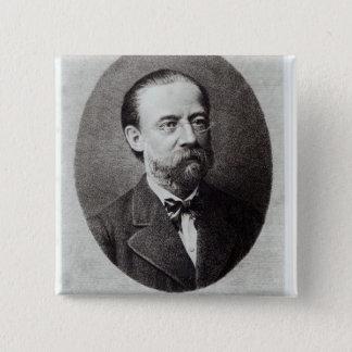Portrait of Bedrich Smetana 15 Cm Square Badge
