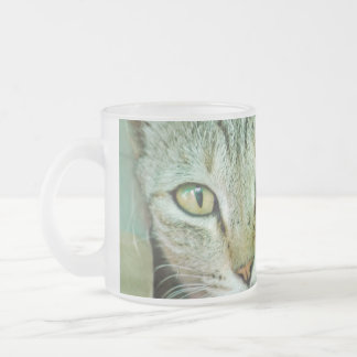 Portrait of Bengal cat Frosted Glass Mug