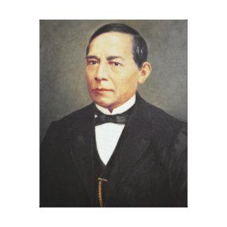 Portrait of Benito Juarez , 1948 Canvas Print