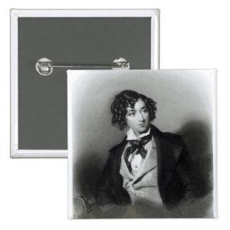 Portrait of Benjamin Disraeli Esquire  M.P. 15 Cm Square Badge
