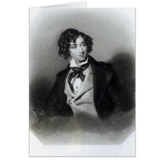 Portrait of Benjamin Disraeli Esquire  M.P. Greeting Card